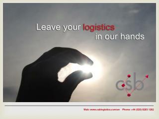 Construction Logistics Specialists