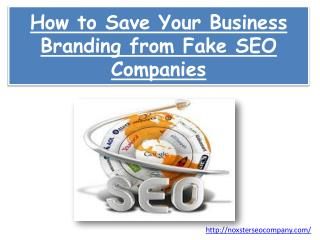 How to Save Your Business Branding from Fake SEO Companies