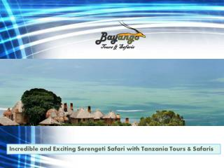 Incredible and Exciting Serengeti Safari with Tanzania Tours