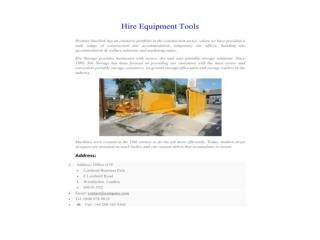 Hire Equipment Tools