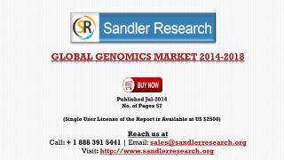 Genomics Market 2018 – Key Vendors Research and Analysis