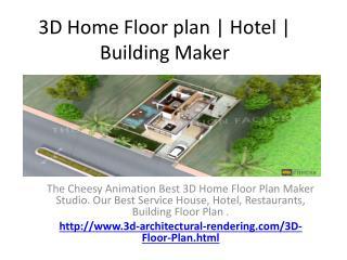 3D Home Floor plan | Hotel | Building Maker