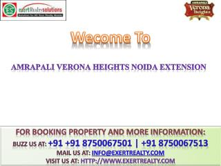 Amrapali Verona Heights  8750067501  Greater Noida