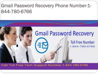 Gmail password recovery phone number-1-844-780-6766