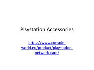Plsystation Accessories