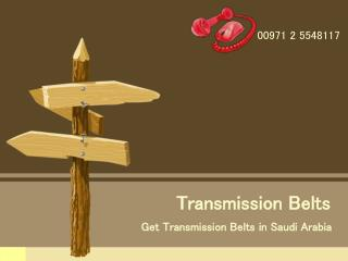How to Find the Best Transmission Belts in Saudi Arabia