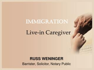 Alberta legal counsel for live in caregiver