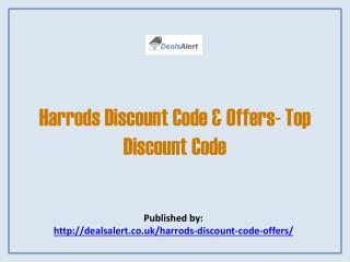 Harrods Discount Code & Offers- Top Discount Code