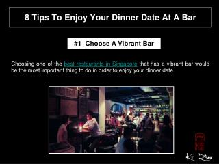 8 tips to enjoy your dinner date at a bar