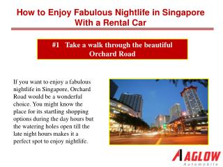 How to enjoy fabulous nightlife in Singapore with a rental c