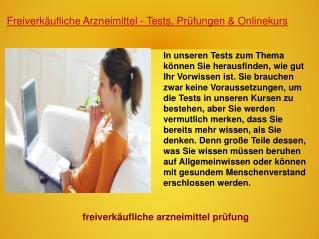 Freiverkäufliche Arzneimittel Test
