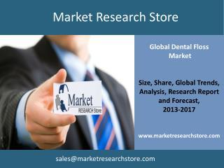 Global Market for Dental Floss to 2017