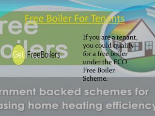 Free Boiler Scheme For Tenants