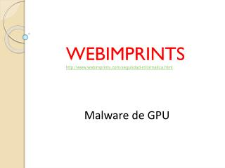 Malware de GPU