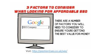 3 Factors To Consider When Looking For Affordable SEO