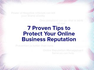 7 Secrets to Online Business Reputation Management