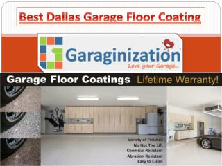 Best Dallas Garage Floor Coating