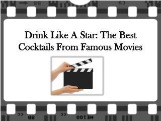 Drink Like A Star at Stockton bar hong kong