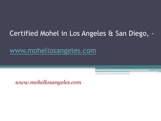 Rabbi Meir Sultan - Certified Mohel - www.mohellosangeles.co