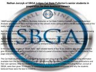 Nathan Jurczyk of SBGA judges Cal State Fullerton