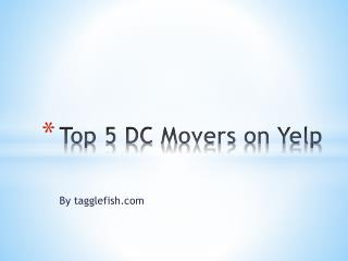 Top 5 DC Movers on Yelp