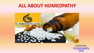 All About Homeopathy.