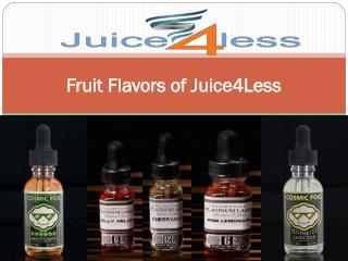 Fruit Flavors of Juice4Less
