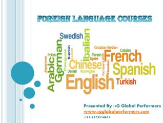 PPT on  foreign language courses