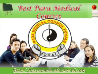 Best Para Medical Courses