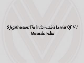 S Jegatheesan: The Indomitable Leader Of VV Minerals India