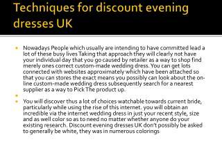 discount evening dresses UK