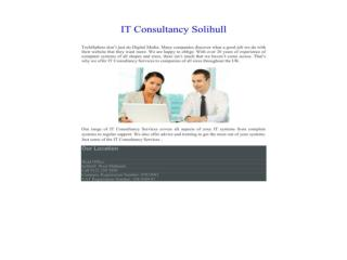 IT Consultancy Solihull