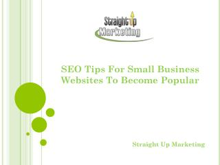 SEO Tips For Small Business Websites To Become Popular