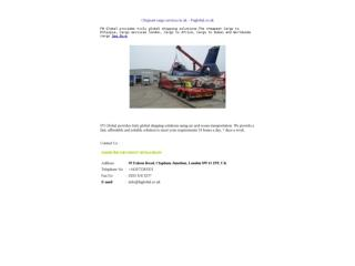 Chepeast cargo services in uk � Fnglobal.co.uk