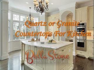 Quartz or Granite Countertops For Kitchen