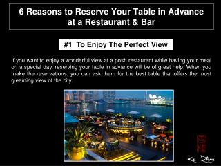 6 reasons to reserve your table in advance at a restaurant &