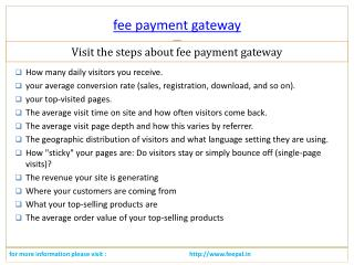 Incredible Benefits of fee payment gateway