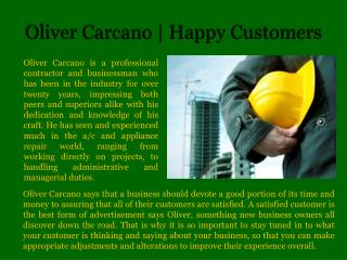 Oliver Carcano | Happy Customers