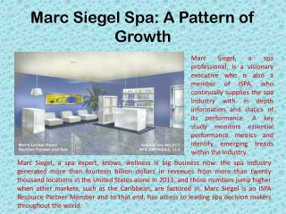 Marc Siegel Spa: A Pattern of Growth
