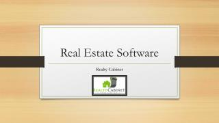 Real Estate Software - Realty