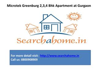 Microtek Greenburg 2,3,4 Bhk Apartment  Searchahome.in
