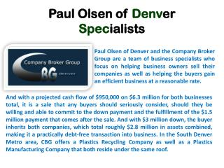 Paul Olsen of Denver Specialists