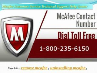 Mcafee Antivirus Toll free Number - 1-800-235-6150