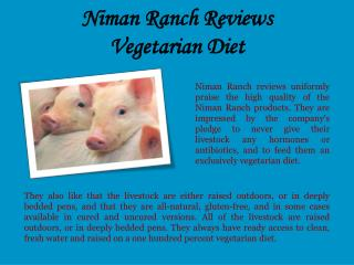 Niman Ranch Reviews_Vegetarian Diet