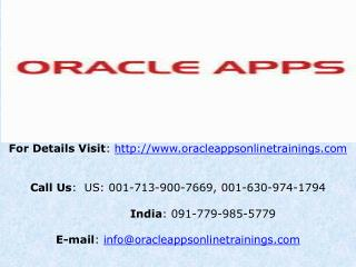 Oracle Apps Technical Training Online and Placement