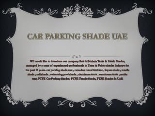 CAR PARKING SHADE UAE