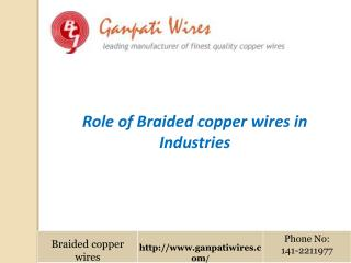 Role of Braided copper wires in Industries