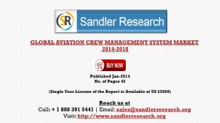 Aviation Crew Management System Market 2018 – Key Vendors Re