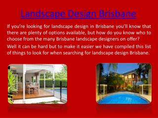 Landscape Design Brisbane