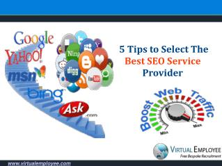 5 Tips to Select The Best SEO Service Provider